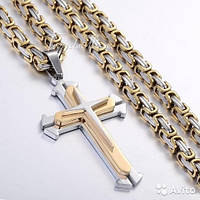 Набор Steel Rage - Цепь мужская + Браслет + Крест