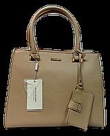 Прелестная женская сумочка DAVID DJONES желтовато-коричневого цвета YRP-033324, фото 1