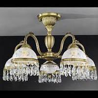 Потолочный светильник RECCAGNI ANGELO PL 6220/5 бронза/стекло/хрусталь