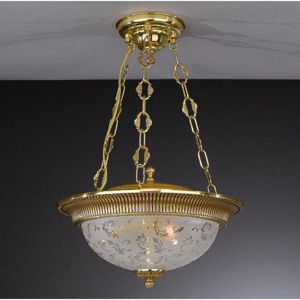 Потолочный светильник RECCAGNI ANGELO PL 6312/3 золото/стекло