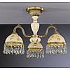 Потолочный светильник RECCAGNI ANGELO PL 6826/3 бронза/стекло/дерево/хрусталь