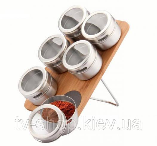 Набор для специй 6 в 1 на бамбуке Peterhof PH-12788