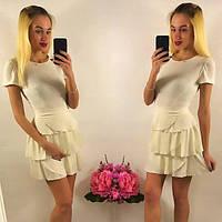 Женское платье летнее юбка в рюшах