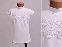 Школьная трикотажная блуза на девочку 140, 164 см Турция-маломерит