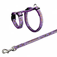 Шлея+поводок Trixie Harness with Leash для грызунов нейлоновый, с рисунком, 25-44 см, фото 1