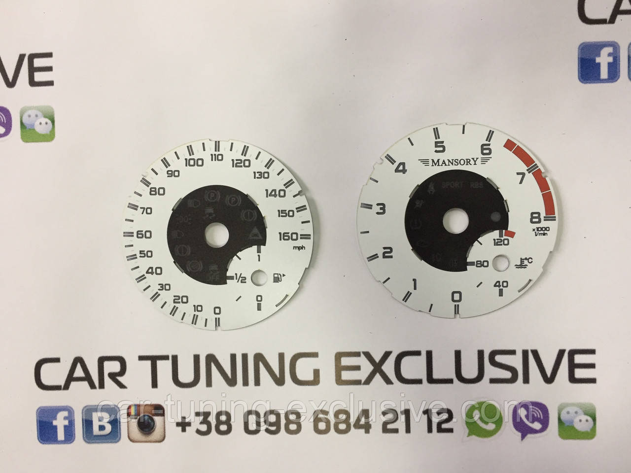 MANSORY speedometer display for Mercedes G-class w463