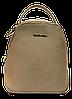 Женский рюкзак-сумка DAVID DJONES темно-бежевого цвета OOP-099261 mini