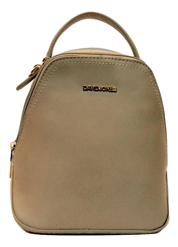 Женский рюкзак-сумка DAVID DJONES темно-бежевого цвета OOP-099261 mini, фото 1