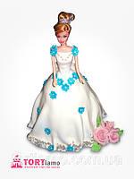 """Детский торт на заказ """"Принцесса Барби"""" с подарком"""