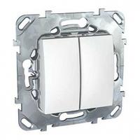Выключатель кнопочный двухклавишный Schneider Electric Unica Слоновая Кость (MGU5.211.25ZD)