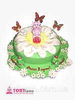 """Детский торт на заказ """"Сказочная полянка Лунтика"""""""