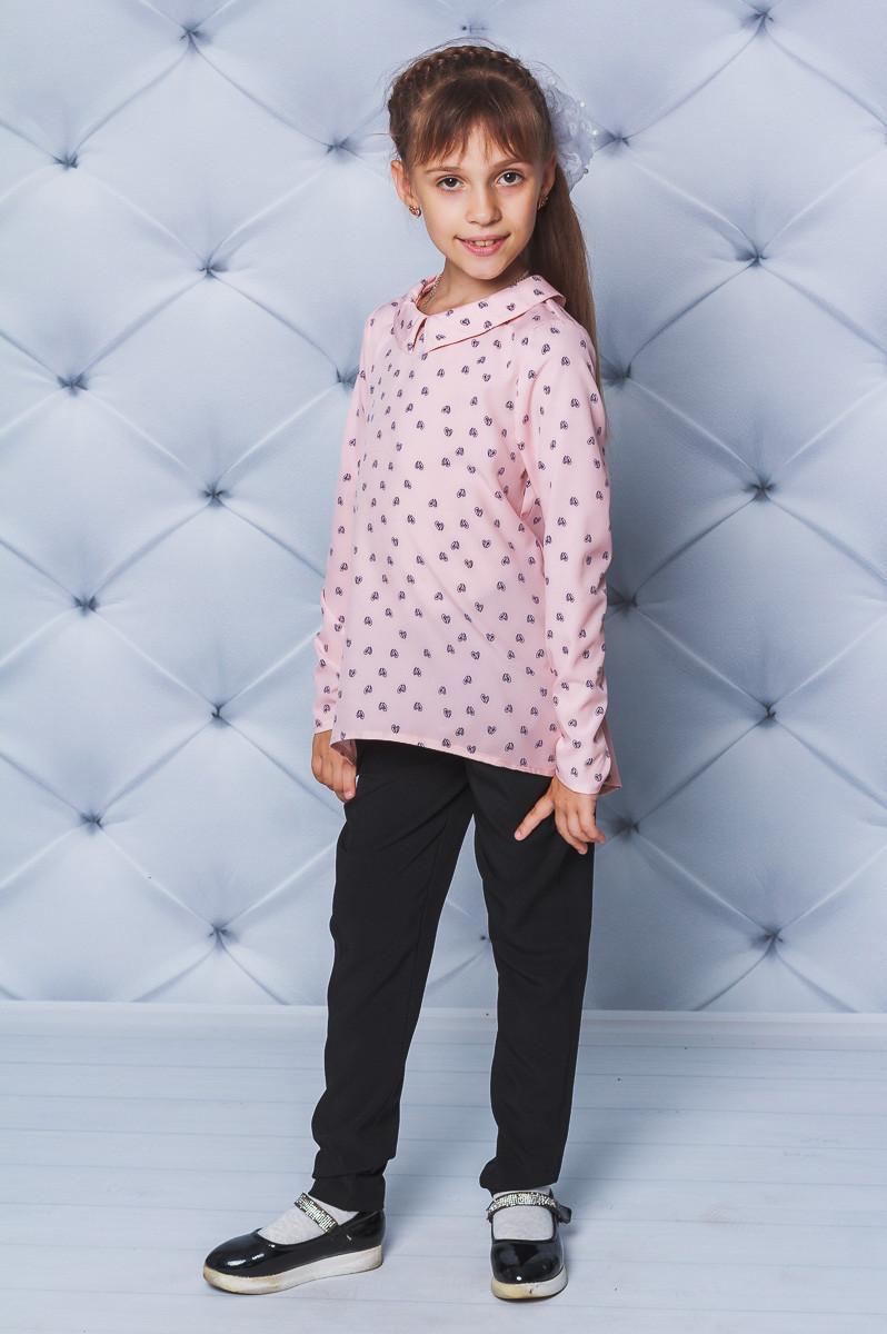 Блузка для девочки Сердечки розовая