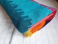 """Полотенце махровое Индия """"Гоа"""" 100х200 разноцветная полоска"""