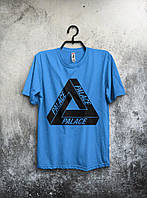 Мужская футболка Palace 🔥 (Палас) голубой
