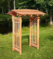 Арка Шанхай-3 садовая для вьющих растений деревянная
