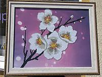 "Готовая картина в технике алмазная вышивка ""Цветок сакуры"""