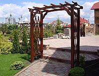 Арка Шанхай-5 садовая для вьющих растений деревянная