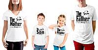 """Комплект футболок для всей семьи """"Мама, папа, сын и дочь"""""""