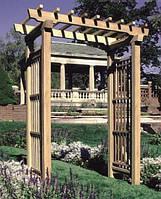 Арка Шанхай-6 садовая для вьющих растений деревянная, фото 1
