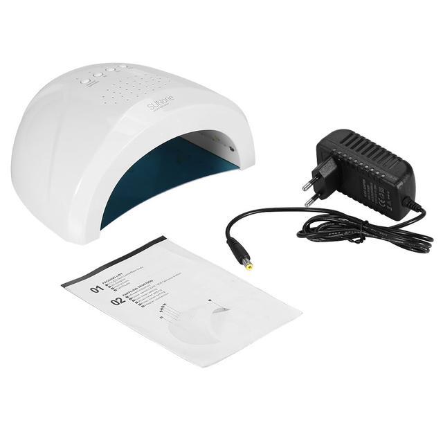 Профессиональная УФ лампа UV/LED SUNone на 36 Вт для сушки геля и гель-лака (white)