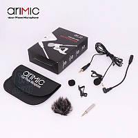 Петличный микрофон Ulanzi Arimic Original для телефона, компьютера, камеры
