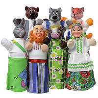 """Кукольный театр """"СОЛОМЕННЫЙ БЫЧОК"""" (премиум упаковка, 7 персонажей, книжка)"""