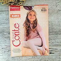 Капронові колготки для дівчинки Conte Blanca 104-110, бордовий
