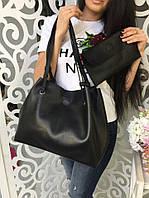 Классический женский комплект 2в1(сумка+кошелек)