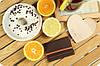 Кожаный кард-кейс 1.1 Орех-апельсин. Ручная работа