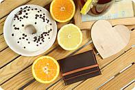 Кожаный кард-кейс 1.1 Орех-апельсин. Ручная работа, фото 1