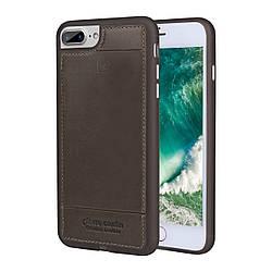 Чехол Pierre Cardin Leather Case iPhone 7 Dark Brown