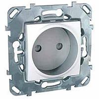 Розетка без заземляющего контакта Schneider Electric Unica Белый (MGU5.033.18ZD)
