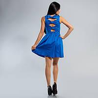 Платье коттон с бантиками на спинке 38,40,42,44,46,48 размеры