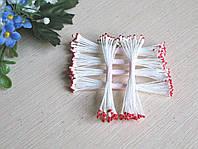 Тайские тычинки, красно- белые,  на белой  нити, 23-25 нитей, 50 головок