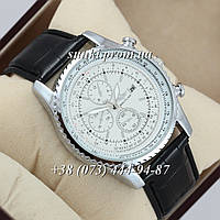 Мужские кварцевые часы Breitling 7810 Black-Silver-White