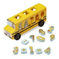 """Деревянный школьный автобус-сортер """"Счет"""" MD19398, Melissa&Doug"""
