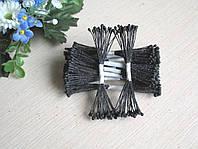 Тайские тычинки, черные,  на черной  нити, 23-25 нитей, 50 головок