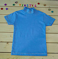 Нарядная трикотажная  блузочка  на рост 110-128 см