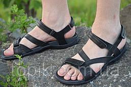 Босоножки, сандали мужские черные мягкие, удобные натуральная кожа (Код: 799)