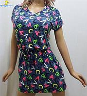 Платье вискозное с карманами и поясом, размеры от 46 до 52, Украина