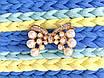 """Украшение """"Бантик"""" с жемчугом и камнями, золото, фото 3"""