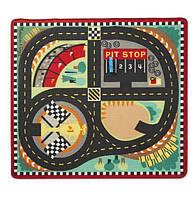 """Игровой коврик с машинками """"Гоночная трасса"""" MD19401, Melissa&Doug"""