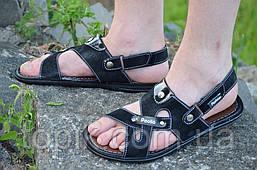 Босоножки, сандали трансформеры, шлепанцы черные практичные Львов (Код: 804)