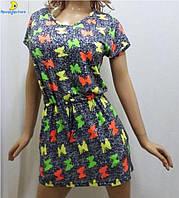 Платье вискозное с карманами и поясом, размеры от 46 до 52, Украина 531-3
