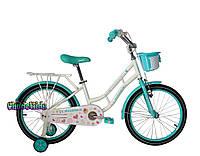 """Детский велосипед для девочек Crosser Mermaid 20"""" голубой"""
