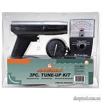 Комплект для регулировки двигателя: стробоскоп, тестер, компресометр JONNESWAY AR020009