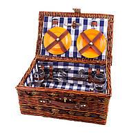 Корзина-пикник на 4 человека (лоза, приборы)