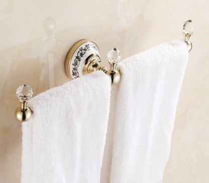 Вешалка для полотенец золото настенная для ванной или на кухню 0409
