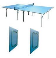 Стол теннисный UR  (Gk-1) (ДСП толщ.16мм, металл, пластик, р-р 2,74х1,52х0,76м, синий)