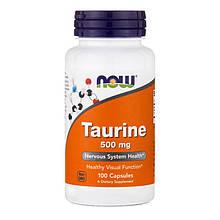 Taurine 500 mg NOW Foods 100 caps